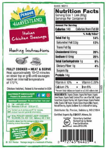etiqueta salchicha pollo