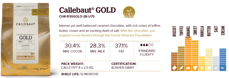 callebaut Gold chocolate