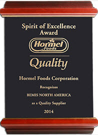 Bemis Form Tite Termoformado Film Retractil Shrinker Costo premio Hormel Foods