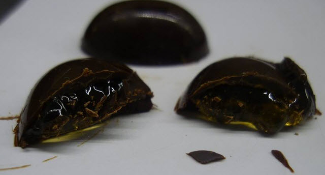 chocolate relleno vino