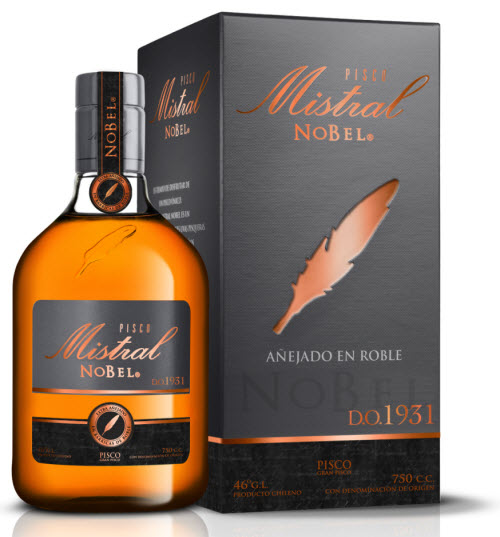 Mistral Pisco Chile Nobel